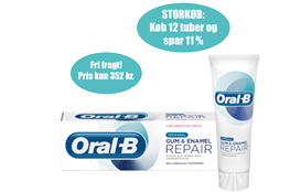 Oral-B, tandpasta,Gum & Enamel Repair,75 ml*12 - Storkøb spar 11% og få fri fragt
