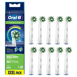 Oral-B, el-børstehoved, CrossAction, hvid, 10 stk