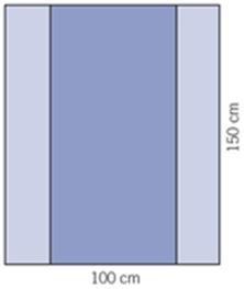 Evercare, instrumentafdækning,100x150 cm,72stk