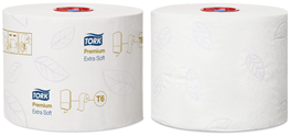 Tork, T6, toiletpapir, mid-size, extra soft, hvid, 70 m, 27 ruller