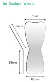 YDM, fotospejl til occlusal, bred, 1 stk