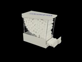 Monoart, dispenser t/vatrulle, hvid
