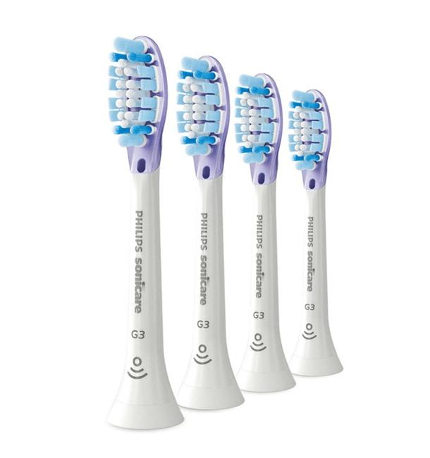 Philips, børstehoved, Smart Gum, hvid, blød, 4 stk