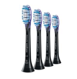 Philips, børstehoved, Smart Gum / HX9054/33, sort, blød, 4 stk